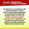 CAMBIO DE CARRERA CICLO ORDINARIO VIRTUAL 2020-I