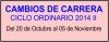 CAMBIOS DE CARRERA