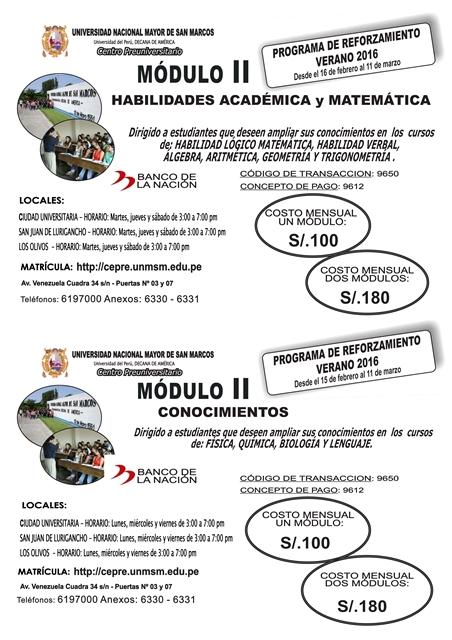Centro Preuniversitario Unmsm Matricula Ciclo