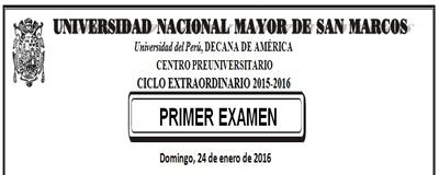 Centro Preuniversitario Unmsm Ciclo Extraordinario 2015