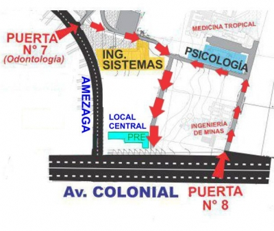 MAPA DE ACCESO A LOCAL CENTRAL DE CIUDAD UNIVERSITARIA