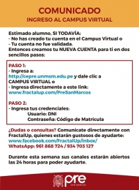COMUNICADO - INGRESO AL CAMPUS VIRTUAL