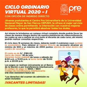 CICLO ORDINARIO VIRTUAL 2020-I