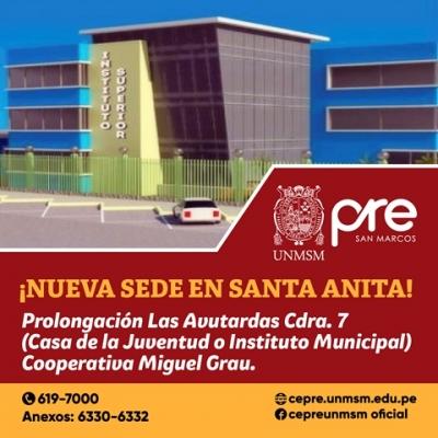 Centro Preuniversitario Unmsm 161 Nueva Sede En Santa Anita