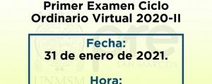 PRIMER EXAMEN CICLO ORDINARIO 2020-II