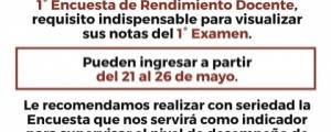 ENCUESTA DE RENDIMIENTO DOCENTE - CICLO ESPECIAL 2018-I