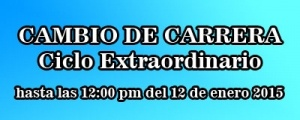 CAMBIO CARRERA