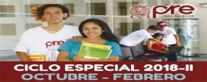 MATRICULA CICLO ESPECIAL 2018-II