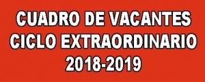 VACANTES CICLO EXTRAORDINARIO 2018-2019