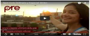 INICIO CICLOS ORDINARIO Y ESPECIAL 2018-I