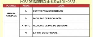 PRIMER EXAMEN CICLO ORDINARIO 2019-II - TEMARIO, PUERTAS DE INGRESO Y LOCALES
