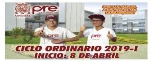 MATRICULA CICLO ORDINARIO 2019-I