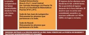SEGUNDO EXAMEN CICLO ESPECIAL 2018-I - TEMARIO, LOCALES, FECHA Y HORA ENTRADA