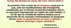 RECUPERACIONES CICLOS ORDINARIO 2020-II Y ESPECIAL 2020-II