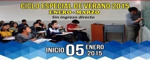 MATRÍCULA CICLO ESPECIAL DE VERANO 2015