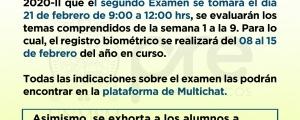 SEGUNDO EXAMEN CICLO ORDINARIO 2020-II