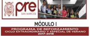 MATRICULA CICLO REFORZAMIENTO VERANO MODULO I
