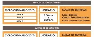 ENTREGA DE CONSTANCIAS DE INGRESANTES DEL CENTRO PRE POR LA OFICINA CENTRAL DE ADMISION