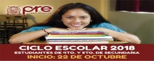 MATRICULA CICLO ESCOLAR 2018