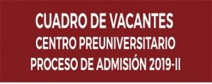 VACANTES CICLO ORDINARIO 2018-II