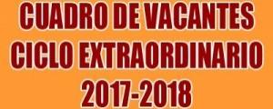 VACANTES CICLO EXTRAORDINARIO 2017-2018