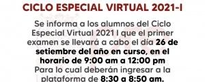 CICLO ESPECIAL 2021-I - PRIMER EXAMEN