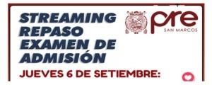 STREAMING REPASO EXAMEN DE ADMISIÓN