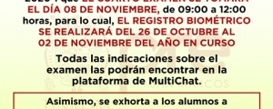 COMUNICADO - CUARTO EXAMEN CICLO ORDINARIO 2020-I