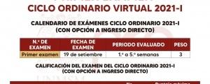 CICLO ORDINARIO 2021-I - INFORMACION EXAMENES