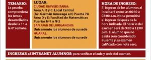 CICLO ESPECIAL 2019-II - PRIMER EXAMEN (TEMARIO, LUGAR, HORA INGRESO)