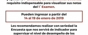 PRIMERA ENCUESTA DE RENDIMIENTO DOCENTE - CICLO EXTRAORDINARIO 2018-2019