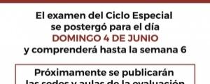 CAMBIO DE FECHA PRIMER EXAMEN CICLO ESPECIAL 2017-I