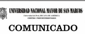 COMUNICADO - ÁREAS ACADÉMICAS SEGÚN FACULTADES Y ESCUELAS