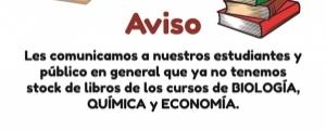 AVISO - LIBROS AGOTADOS