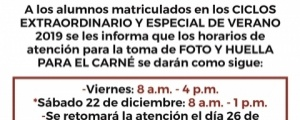 HORARIOS DE ATENCIÓN POR FIESTAS NAVIDEÑAS