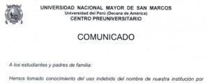 COMUNICADO SOBRE MODALIDAD DE ESTAFA