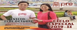 MATRICULA CICLO ESPECIAL 2019-II