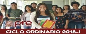 MATRICULA CICLO ORDINARIO 2018-I
