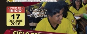 MATRICULA CICLO ESPECIAL 2016-II