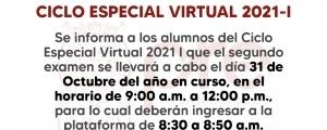 CICLO ESPECIAL 2021-I - SEGUNDO EXAMEN