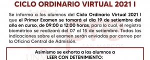 CICLO ORDINARIO 2021-I - PRIMER EXAMEN