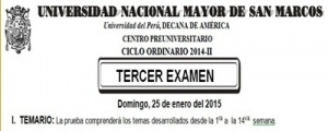 CICLO ORDINARIO 2014-II - TEMARIO TERCER EXAMEN