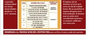 CICLO ORDINARIO 2019-I - PRIMER EXAMEN (TEMARIO, LUGAR, HORA INGRESO)