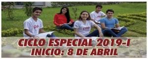 MATRICULA CICLO ESPECIAL 2019-I