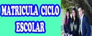 MATRICULA CICLO ESCOLAR 2015