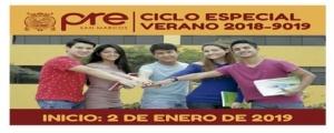 MATRICULA CICLO ESPECIAL VERANO 2019