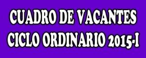 CUADRO  DE VACANTES