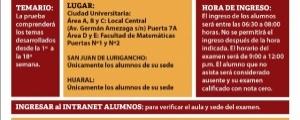 CICLO ESPECIAL 2019-I - TERCER EXAMEN (TEMARIO, LUGAR, HORA INGRESO)