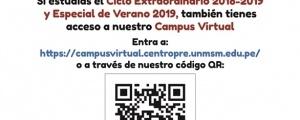 ACCESO CAMPUS VIRTUAL CICLOS EXTRAORDINARIO Y ESPECIAL VERANO 2018-2019