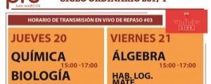 CICLO ORDINARIO 2017-I  - HORARIO DE TRANSMISIÓN EN VIVO DE REPASO #03